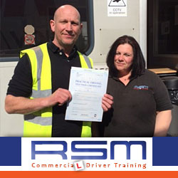 Mark passed his HGV Class 2