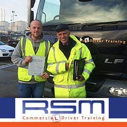 HGV driving test pass